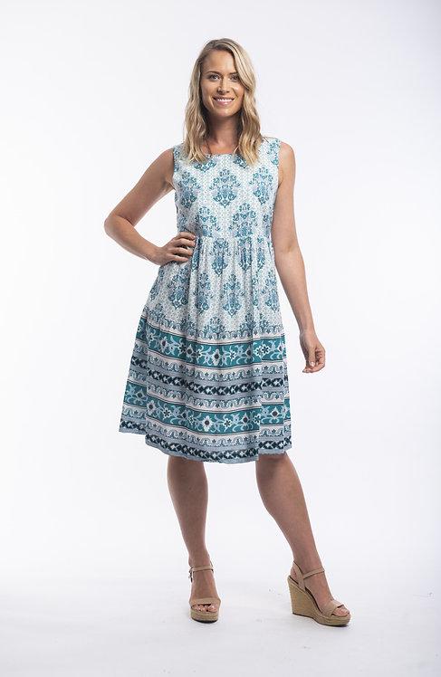 PORTO 100% Cotton S/Less Dress - Style 81106