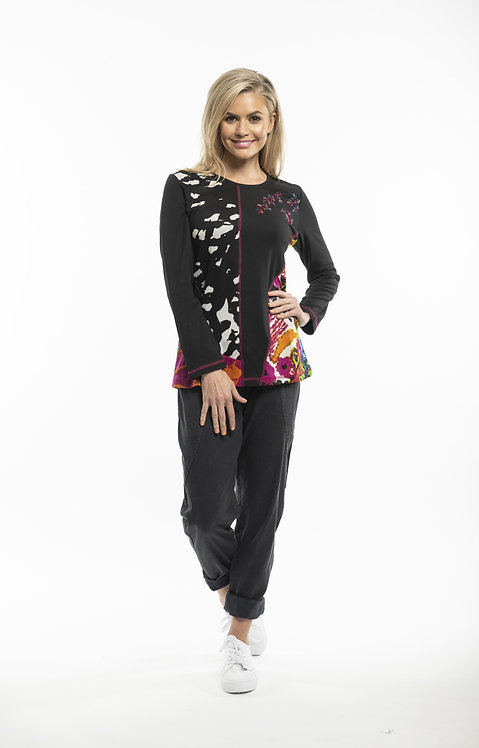 DAVID Panelled Long Sleeved Top - Style 62390