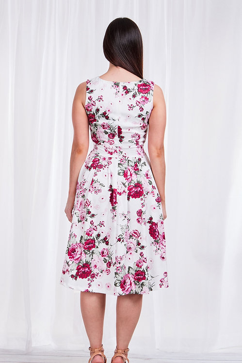 Fit n Flare Sleeveless Floral Dress - Style D505851
