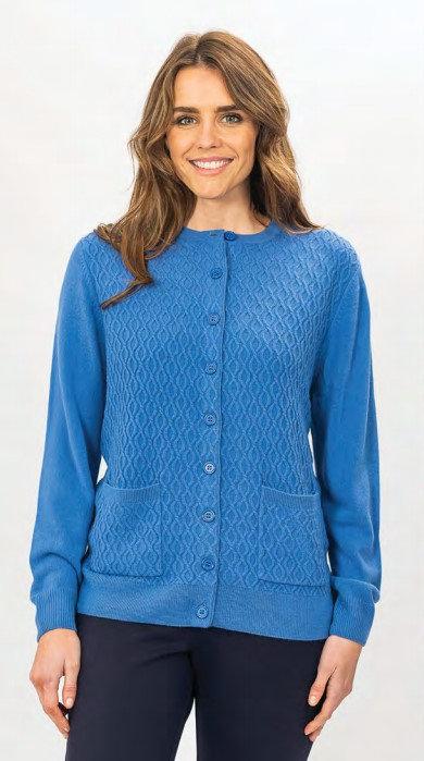 Round Neck Button Cardigan - Style 2421