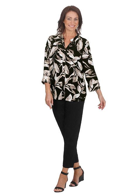 LEAF Print 3/4 Sleeved Shirt - Style 5568
