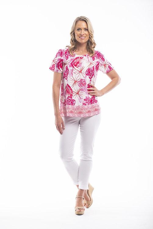 TAVIRA Short Sleeve Print Top - Style 22701