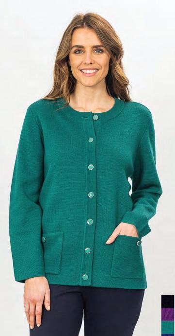 MILANO Button Through Wool Cardigan - Style 2311