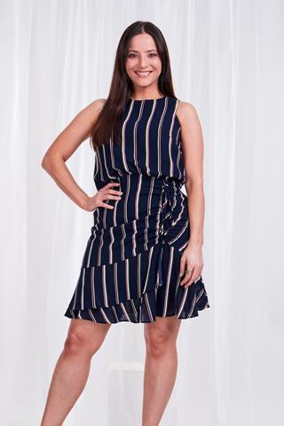 Sleeveless Stripe Dress - Style D505748