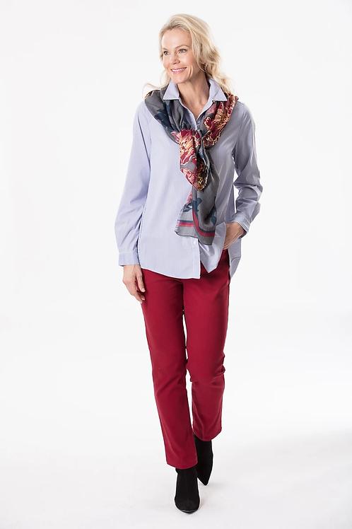 Stripe Long Sleeved Stretch Shirt - Style 16437