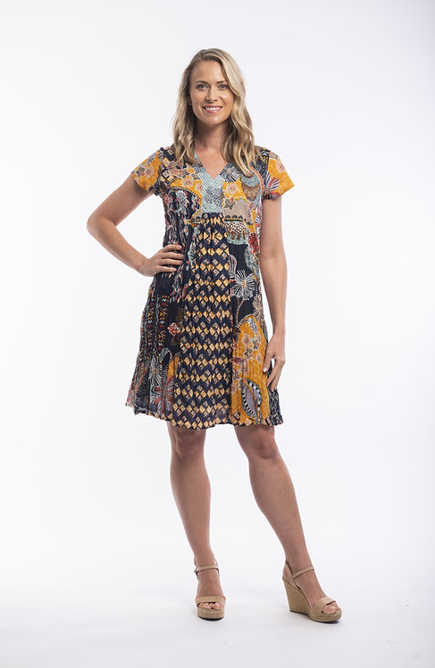 ANDALUCIA Easy Fit 100% Cotton Dress - Style 21366