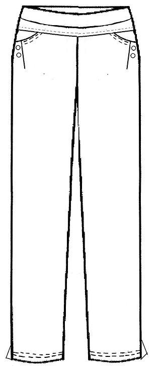 Full Length Ponte Pant - Style E1342