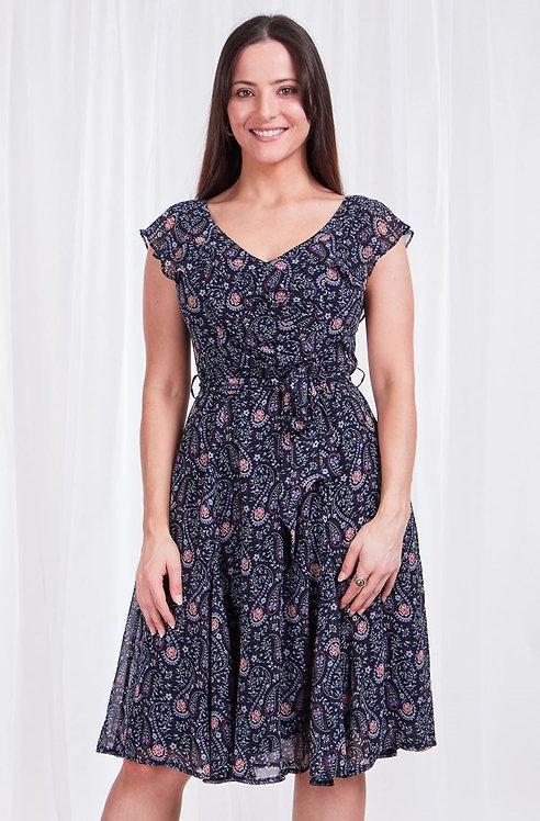 Cap Sleeve Ruffle Dress - Style D507248