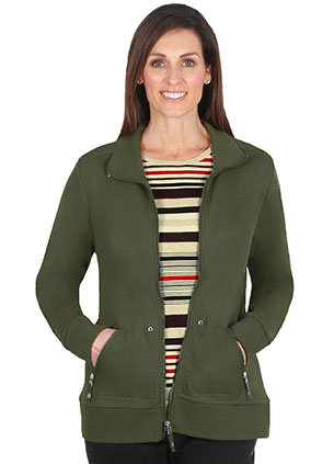 FRENCH Terry Zip Front Long Sleeved Jacket - Style 2024