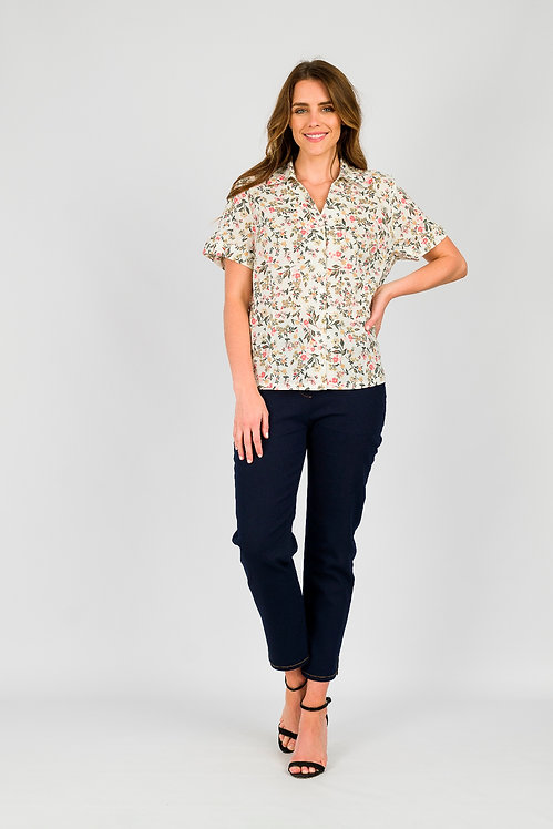 Short Sleeved Cotton Shirt - Style 1BL19