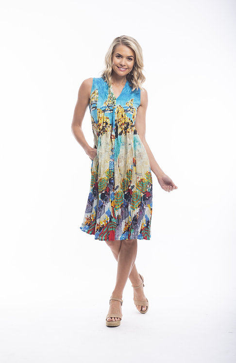 CONTEMPORARY 100% Cotton S/Less Dress - Style 21353