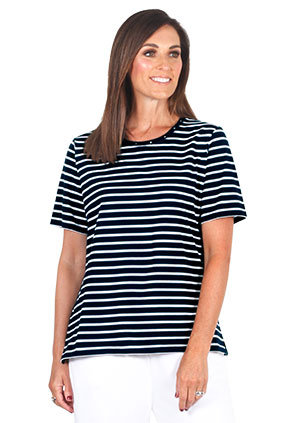 FRENCH TERRY Short Sleeved Top - Style 2091