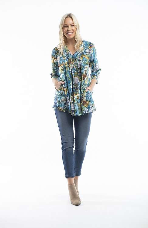 FORT MANCEL Mid Sleeved Top - Style 62491