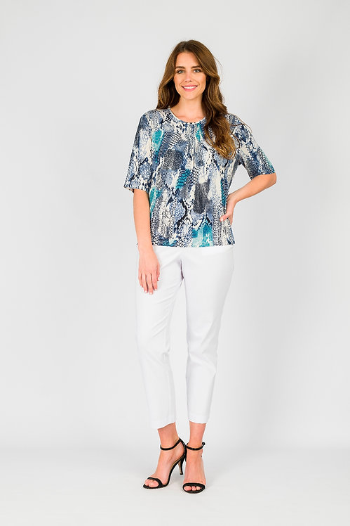 Short Sleeved Pleat Front Top - Style 1KN3