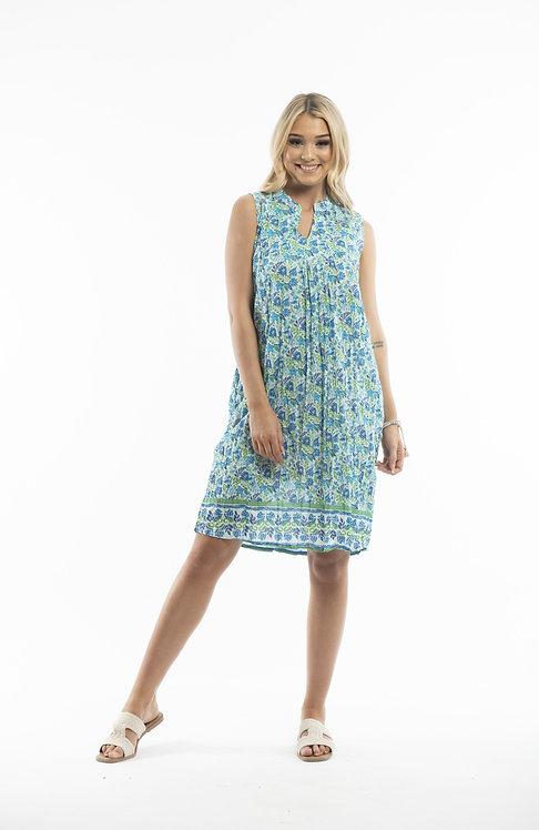 100% Cotton Sleeveless Dress - Style DW51D