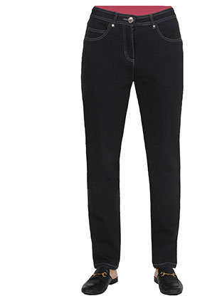 Embroidered 5 Pocket Jean - BLACK - Style 2023