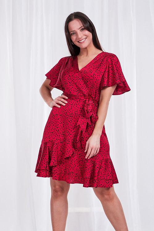 Tie Front Cross Front Dress - Style D506858