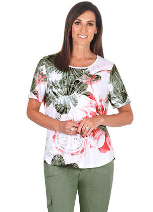 ASPIRE Round Neck Short Sleeved Top - Style 2059