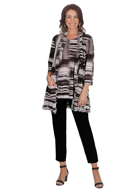 ESPRESSO Mid Sleeved Twin Set Top - Style 5574