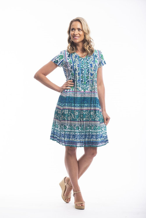 IBIZA 100% Cotton Easy Fit Dress - Style 61405