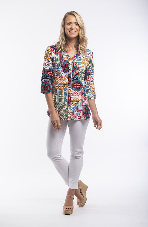 SANTIAGO Short Sleeve Print Shirt - Style 82097