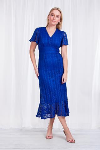 Short Sleeved Long Dress - Style D506415
