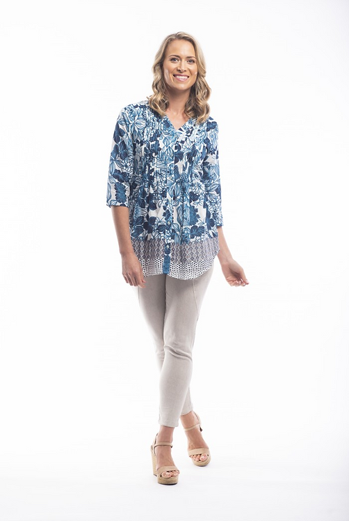ALCAZAR 3/4 Sleeve Shirt - Style 52650