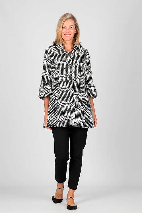 Flared Swing Buttoned Coat - Style W026.270