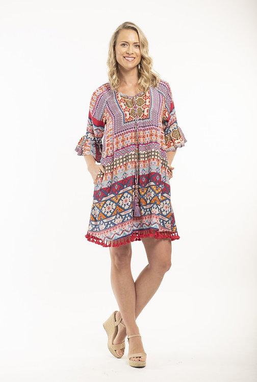 PERISSA Frill Sleeved Tunic Dress - Style 62355