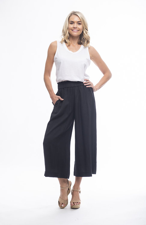 LINEN Blend Cropped Pants - Style 6667