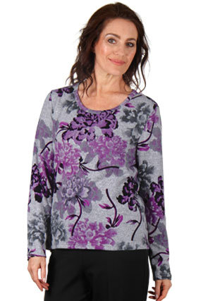 Long Sleeved Print Top - Style 5787