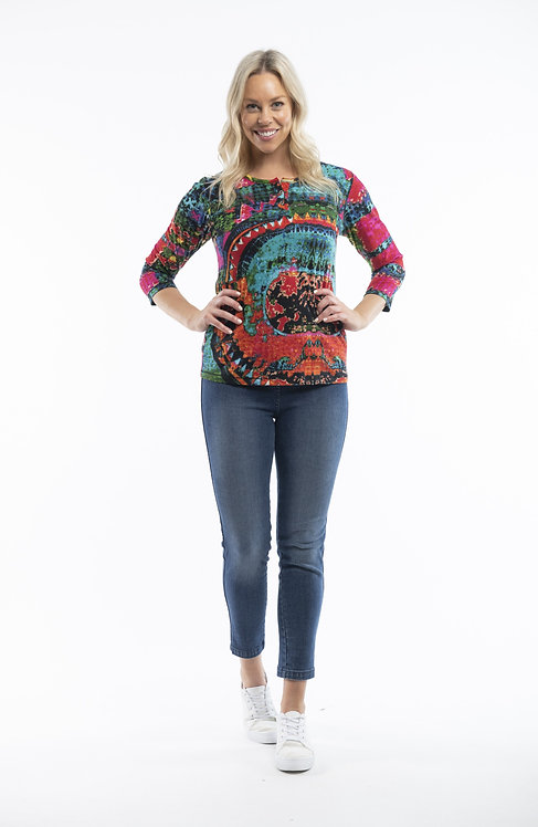 3/4 Sleeved 100% Cotton Top - Style 22716