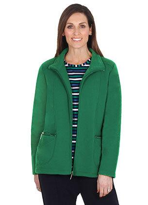 Fleece Zip Front Jacket - Style 2039