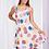 Thumbnail: Cotton Dot Layer Hem Sleeveless Dress - Style D507202