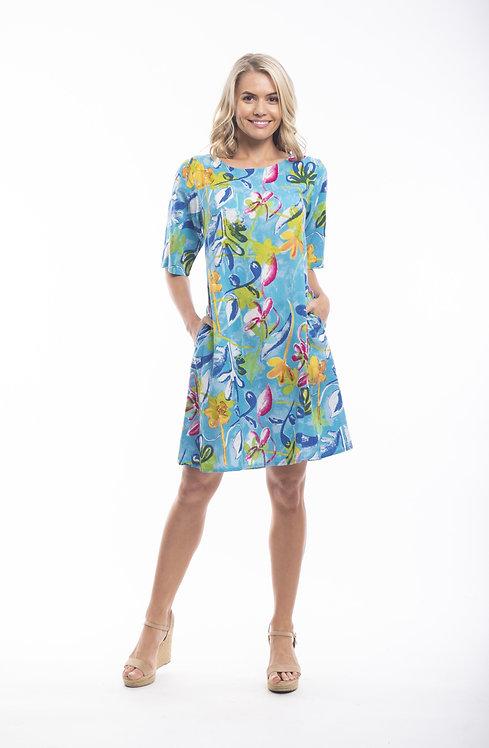 LAS PALMAS Short Sleeved Dress - Style 21380