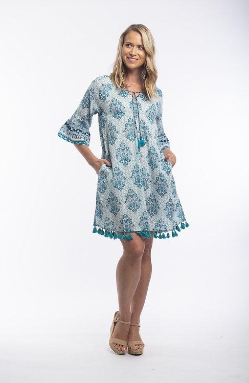 PORTO 100% Cotton Boho Dress - Style 81104
