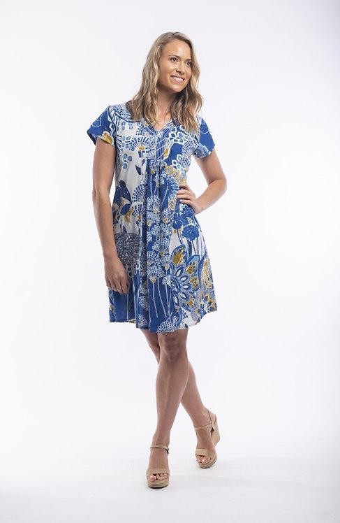 SEVILLE Short Sleeve Print Dress - Style 81118