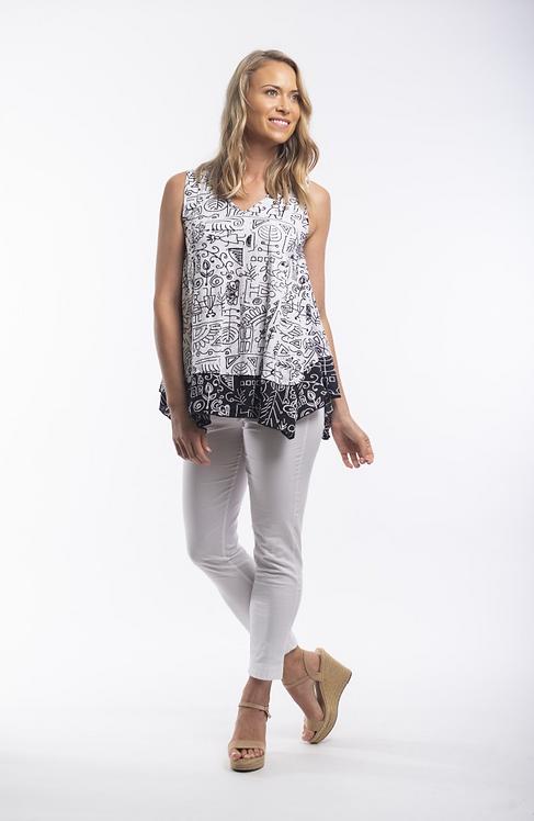 ZAMORA Sleeveless 100% Cotton Top - Style 11350