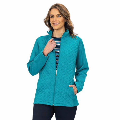 Fleecy Quilted Jacket - Style 2609