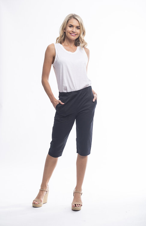 STRETCH Cotton Blend Long Length Shorts - Style 56022