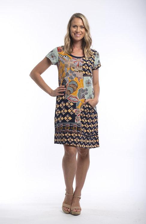 ANDALUCIA Short Sleeved Dress - Style 21363