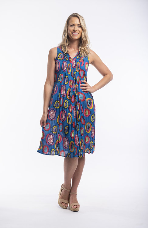 CATALONIA 100% Cotton S/Less Dress - Style 61416