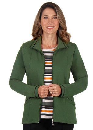 Fleece Trim Jacket - Style 2124