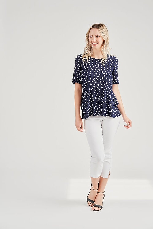 Crepe Sleeved Top - Style V4179A