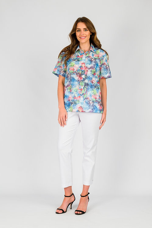 Short Sleeved Cotton Shirt - Style 1BL8