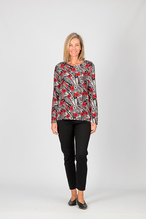 Long Sleeved Pattern Top - Style 0604.17