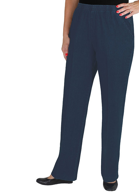 Full Length Pull On Stretch Cotton Jeans - Style 698