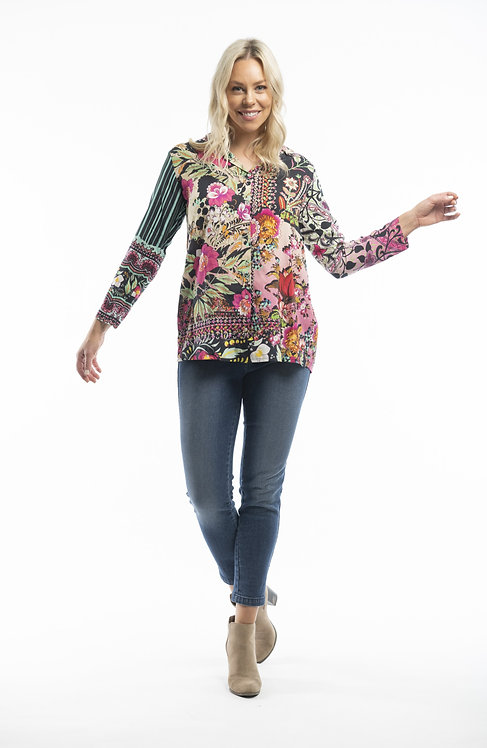 DIGITAL MIX 3/4 Sleeve Shirt - Style 72368