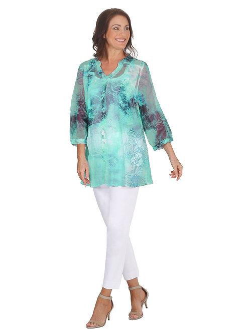 LAGOON Print Shirt - Style 5553