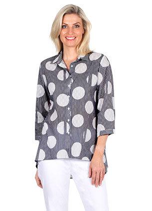 3/4 Sleeve Print Shirt - Style E1375
